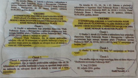 """300 KM za """"duševnu bol"""" ministara i savjetnika je vrh bezobrazluka Vlade FBiH"""