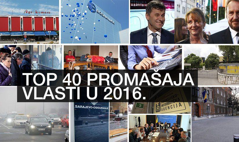 Top 40 promašaja vlasti u 2016. godini